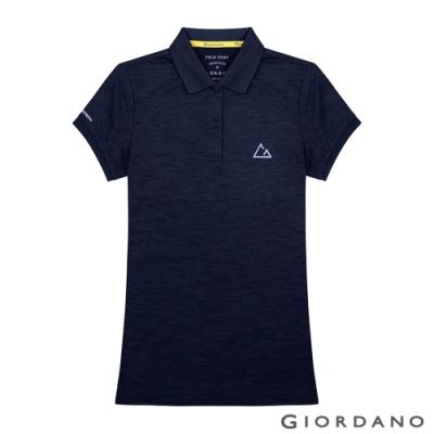 GIORDANO 女裝G-MOTION透氣排汗運動POLO衫-04 標誌海軍藍
