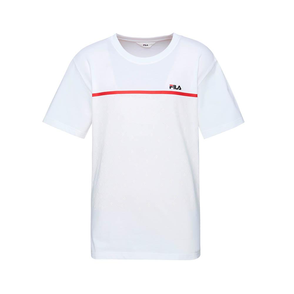 FILA 男款短袖圓領T恤-白色 1TET-1511-WT
