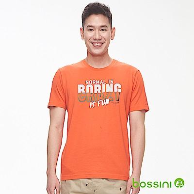 bossini男裝-印花短袖T恤17橘紅