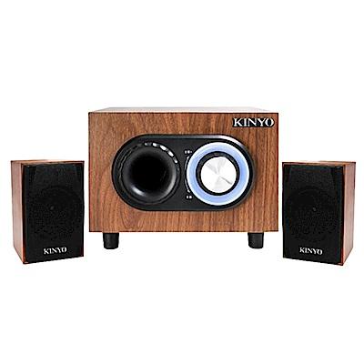 KINYO典雅風2.1聲道3D木質音箱喇叭/音響(KY-1703)震撼你的心跳