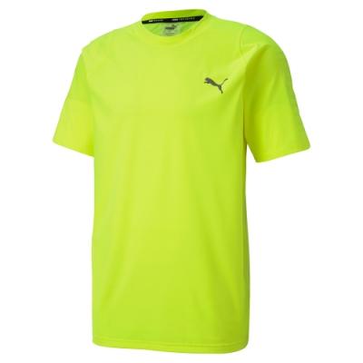 PUMA-男性訓練系列Power Thermo R+短袖T恤-警示黃-歐規