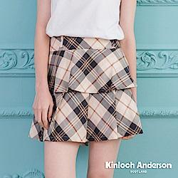 【Kinloch Anderson金安德森女裝】英倫甜美格紋蛋糕短裙