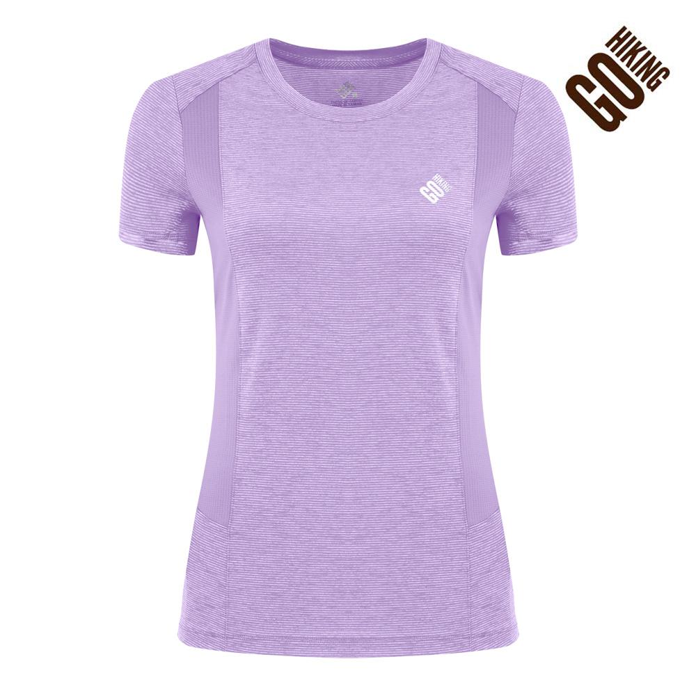 【GOHIKING】女CoolBest拼接吸排涼感T恤