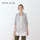 【MOSS CLUB】文青休閒長袖-襯衫(黑色)