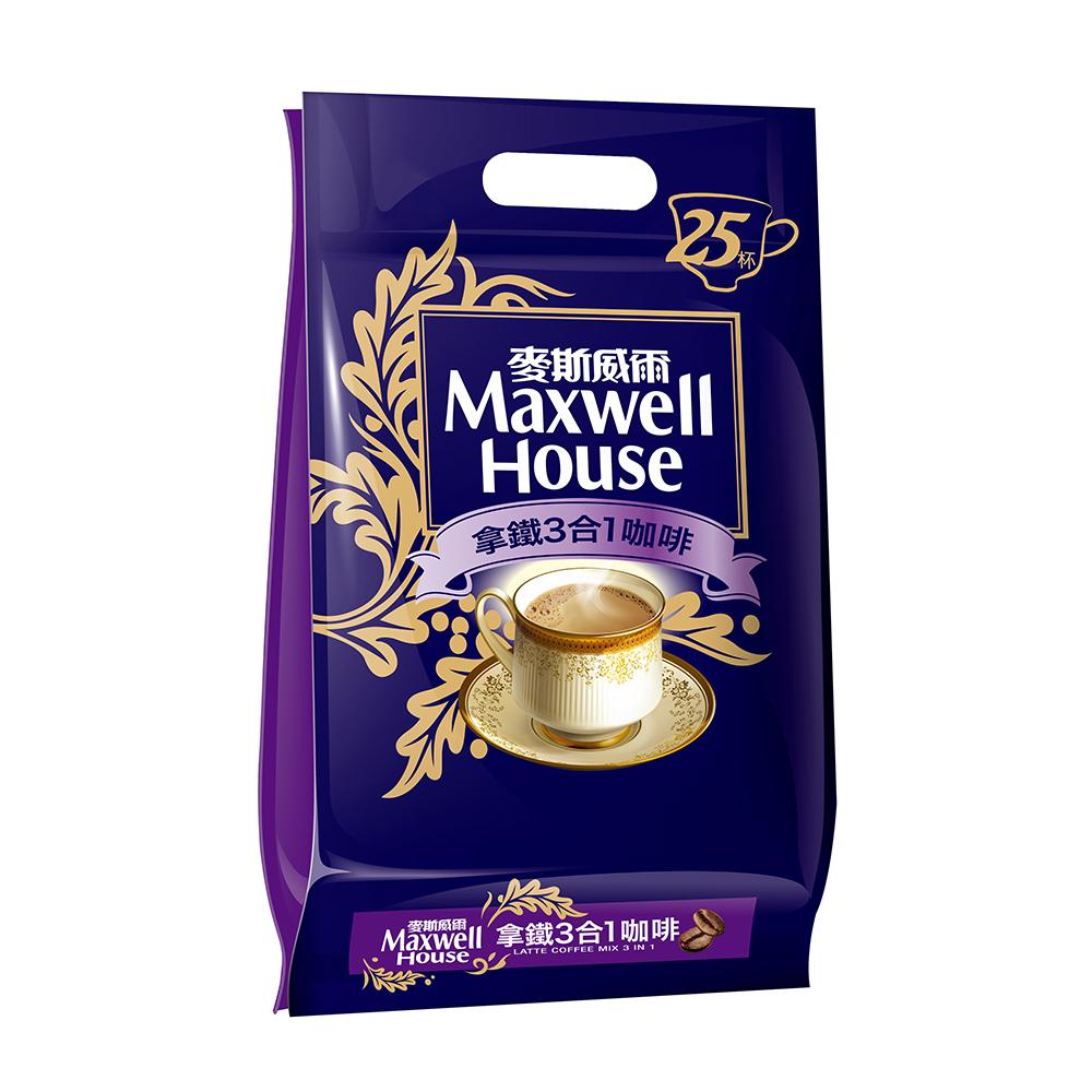 Maxwell麥斯威爾 拿鐵3合1咖啡(25入/袋)