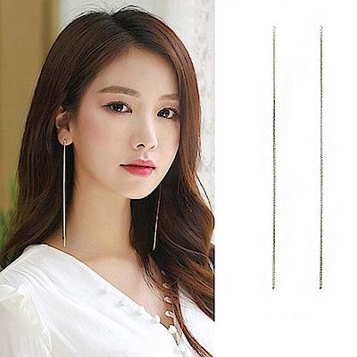 梨花HANA  韓國S925銀絕美婉約細緻超長耳線耳環修飾臉型