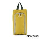 AOKANA奧卡納 MIT台灣製 旅行鞋袋 便攜收納包 收納袋(黃金銅)02-027