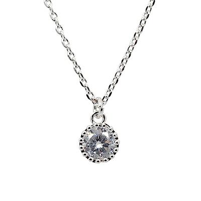 Prisme美國時尚飾品 經典晶鑽 銀色項鍊