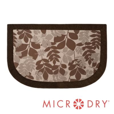 Microdry 時尚地墊 雙色舒適多功能地墊【春天棕底/ F】