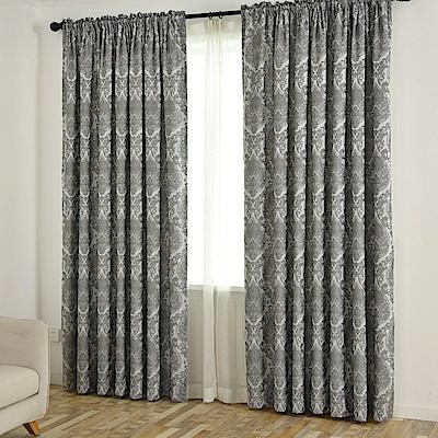 伊美居 凱特雙層遮光緹花落地窗簾-單片130x230cm (共2片)