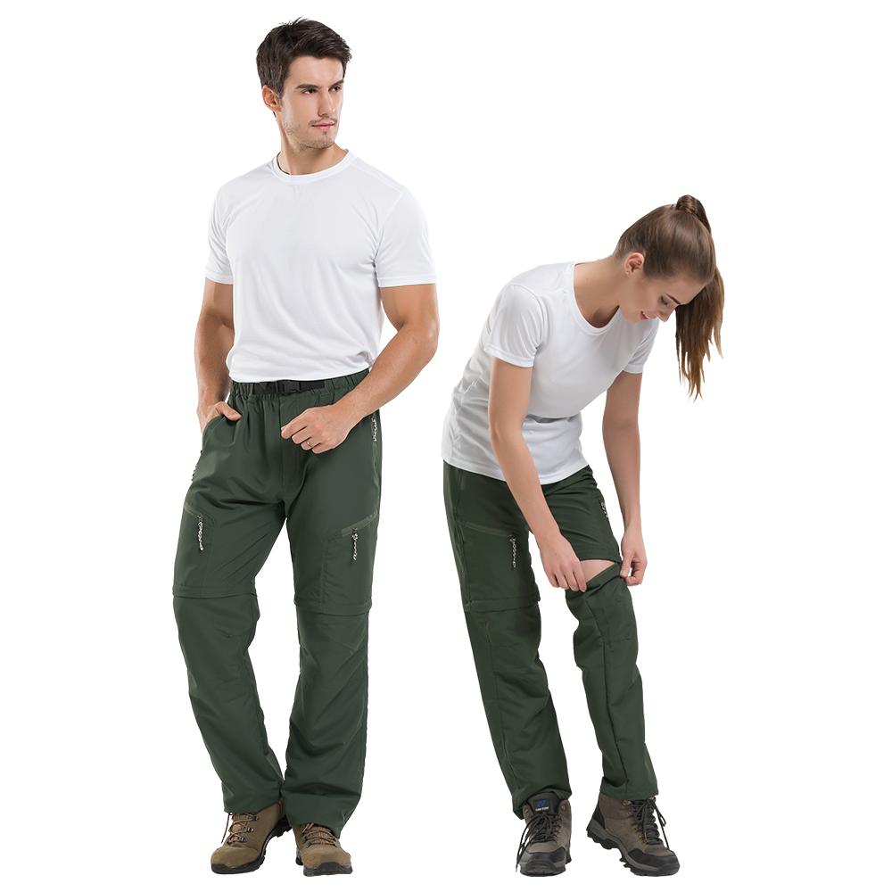 NEW FORCE 兩截式速乾防潑水透氣休閒工作褲-軍綠