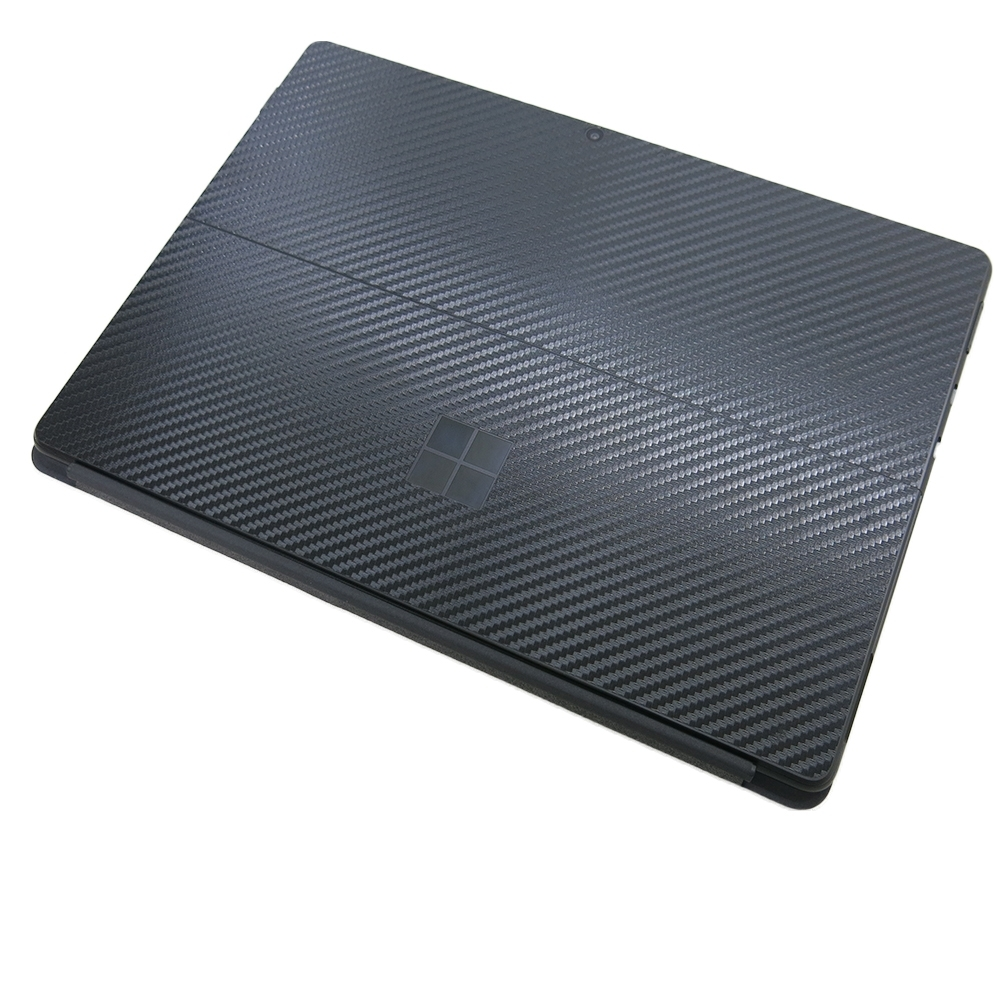 EZstick Microsoft Surface Pro X 黑色立體紋機身貼