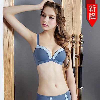 瑪登瑪朵 浪漫法式無痕內衣  B-E罩杯(結晶藍)