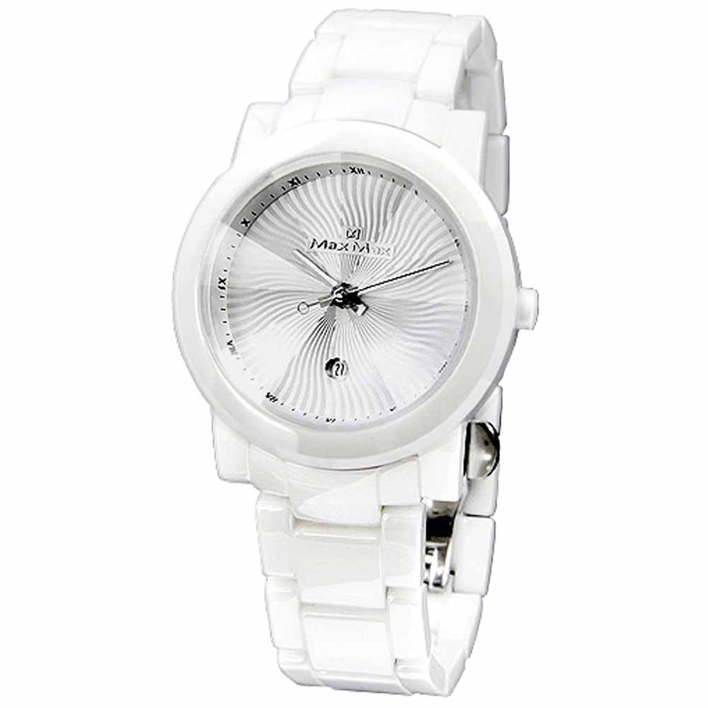 Max Max 迷戀風采陶瓷腕錶-白-MAS5080-W3-38mm