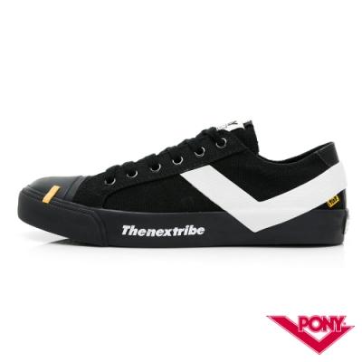 【PONY】黃色炸藥.tnt 聯名系列 SHOOTER帆布鞋 女款 黑色