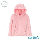 Carter's台灣總代理 粉紅貓咪耳朵連帽外套
