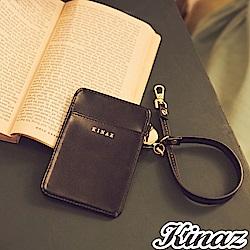 KINAZ 伸縮手挽帶好收納票卡夾-俐落黑魔力-小物魔法系列