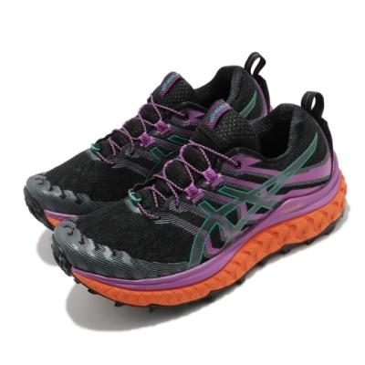 Asics 慢跑鞋 Trabuco Max 野跑 女鞋 亞瑟士 高抓地力 抽繩 節能 黑 紫 1012A901002