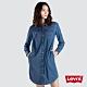 Levis 女款 長版牛仔洋裝 修身版型 側邊口袋 product thumbnail 2