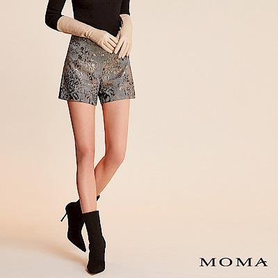 限時商品 | MOMA 金屬光豹紋格紋短褲