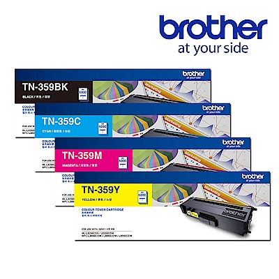 Brother TN-359BK/C/M/Y 原廠高容量碳粉匣(1黑3彩超值組)
