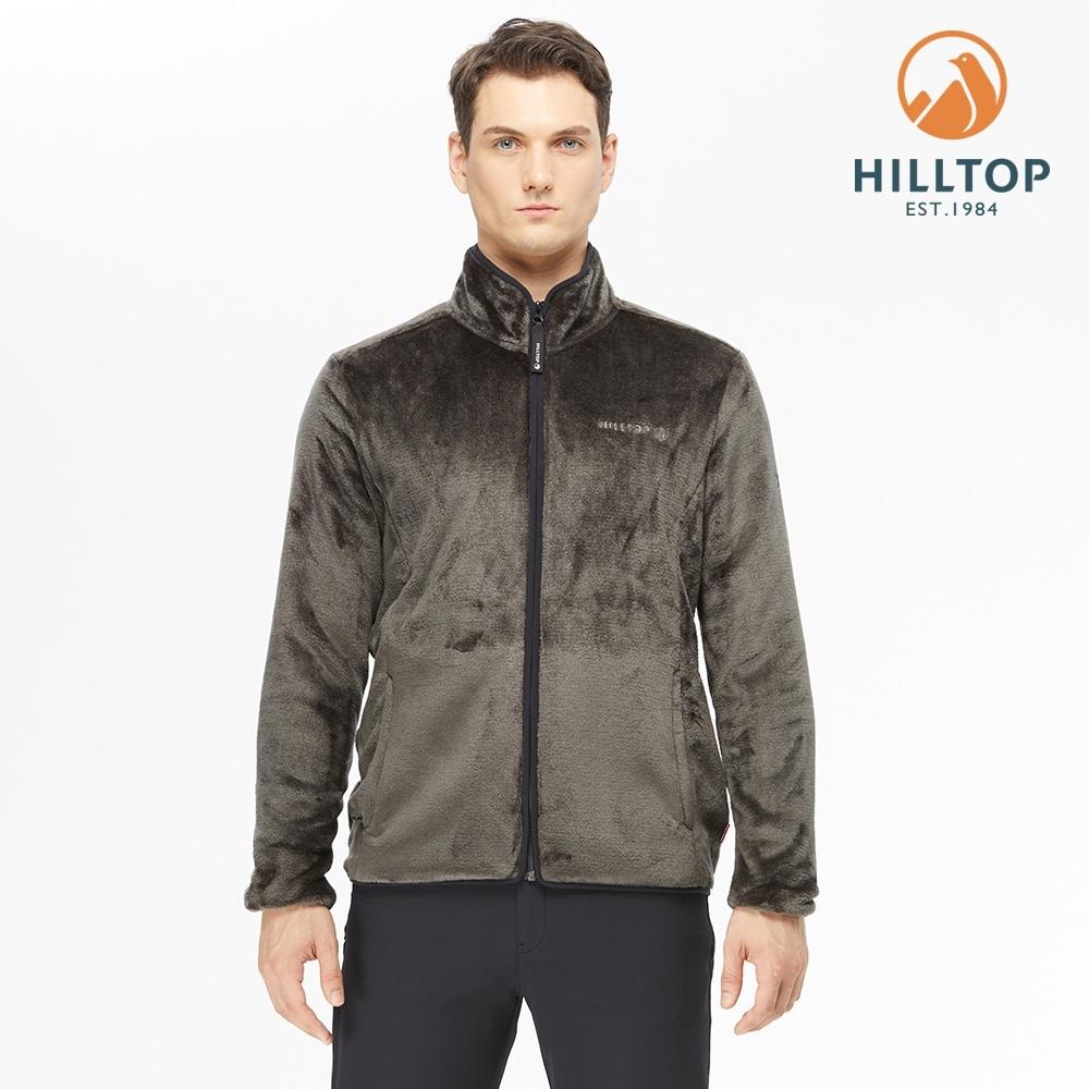 【hilltop山頂鳥】男款立領保暖刷毛外套H22MY2深灰色