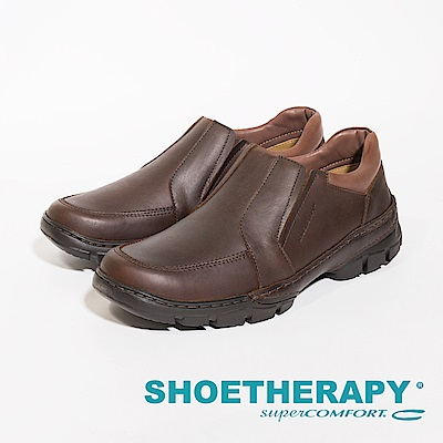 SAPATOTERAPIA 巴西型男簡約風格直套式休閒鞋 男鞋-咖(另有黑)
