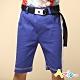 Azio Kids 男童 短褲 雙環皮帶側配線休閒短褲(藍) product thumbnail 1