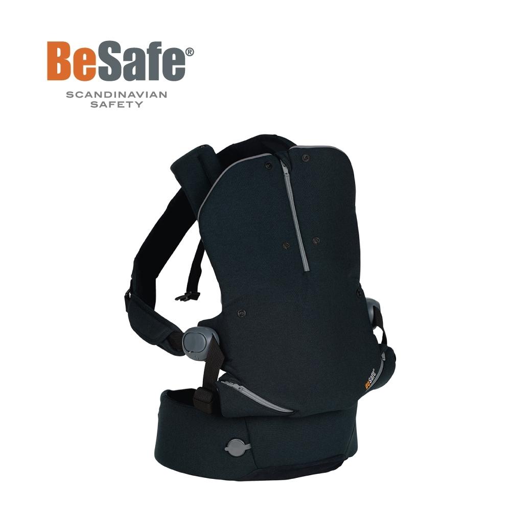 BeSafe Haven輕量秒充氣墊腰凳式嬰幼兒揹帶- Leaf子夜黑