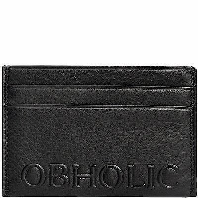 OBHOLIC 義大利牛皮卡片夾卡套票卡夾 OB09CR002