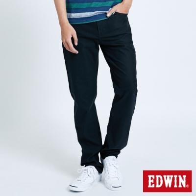 EDWIN JERSEYS 迦績 大尺碼 車織帶AB牛仔褲-男-黑灰色