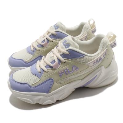 Fila 休閒鞋 Hidden Tape2 厚底 女鞋 斐拉 老爹鞋 穿搭推薦 復古慢跑鞋 米 紫 5J329V199