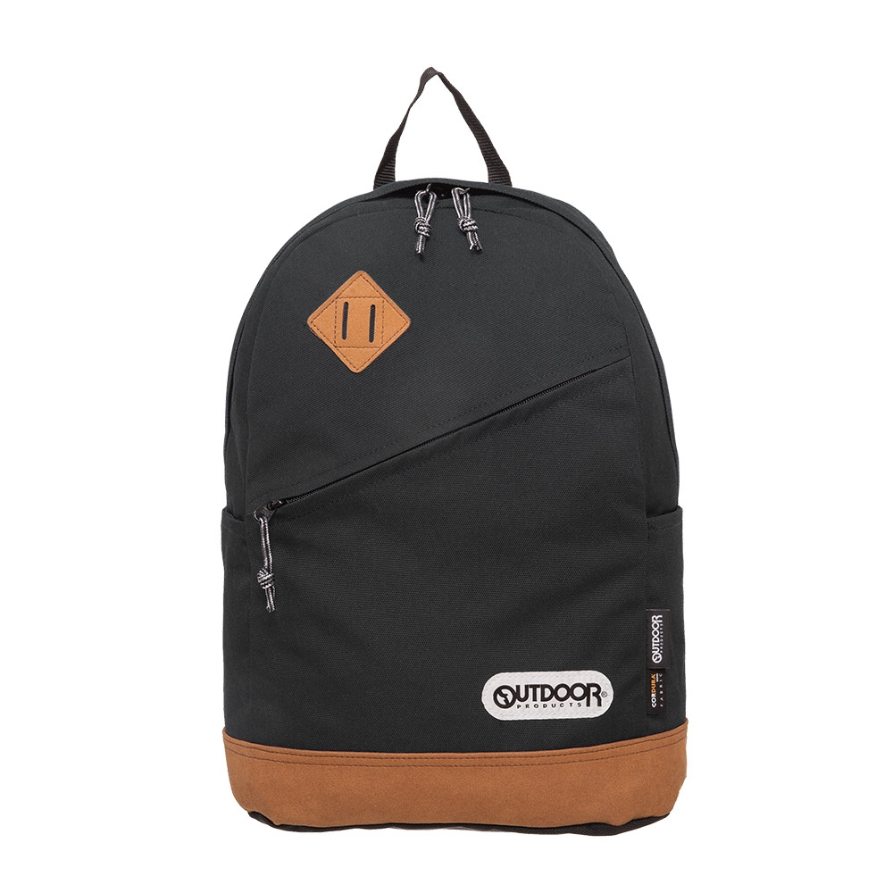 【OUTDOOR】率真年代-14吋筆電皮底後背包-黑色 OD62026BK