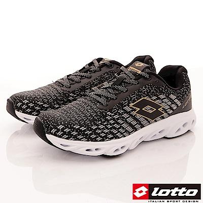 Lotto樂得-風動編織跑鞋-RSI600黑灰金(男段)