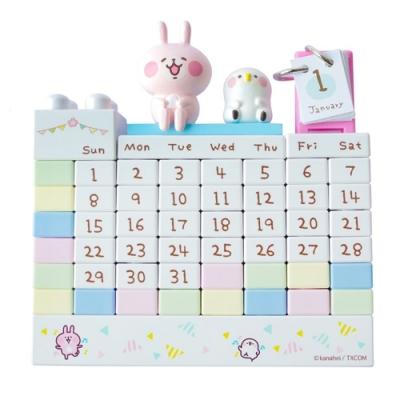 日本a-works 卡娜赫拉的小動物積木萬年曆 KH-055 小兔兔P助造型