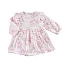 【Deux Filles有機棉】女童長袖洋裝包屁衣-紅花