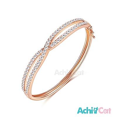AchiCat 白K手環 甜蜜交織 (玫金)