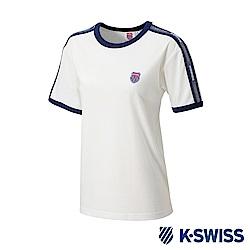K-SWISS Soft Cool T-Shirt印花短袖T恤-女-白