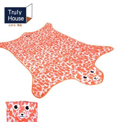 Truly House 可愛動物野餐墊 地墊 防潮墊 寶寶爬行 地布 (一般款)(三色任選)