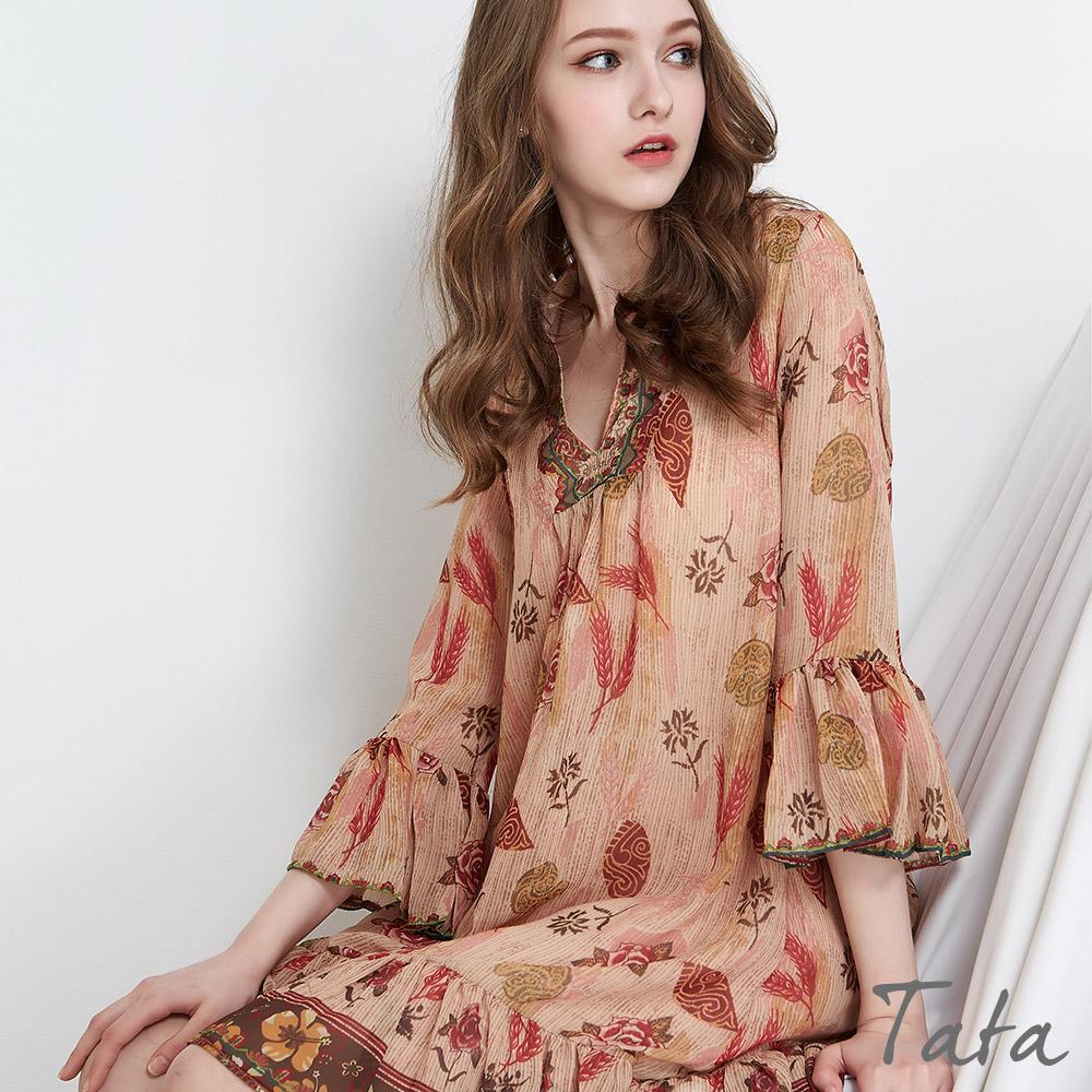 異國復古花朵洋裝 TATA