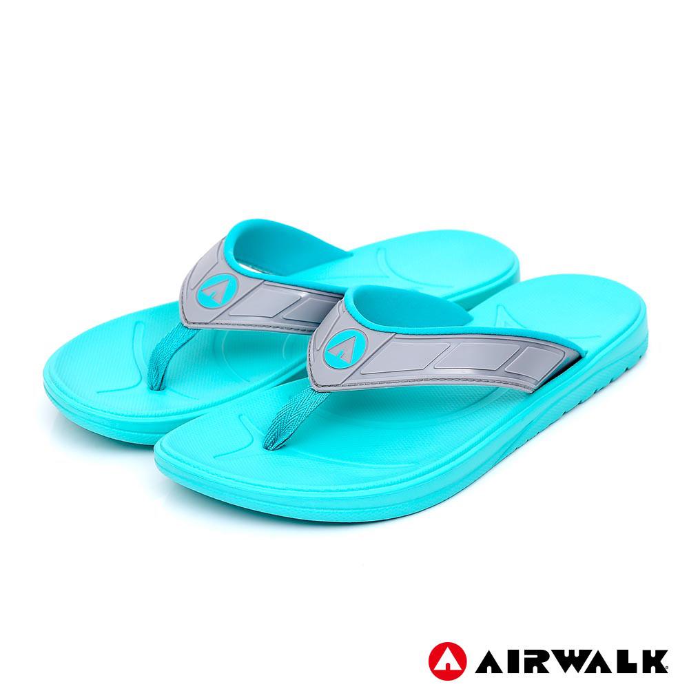 【AIRWALK】A0夾腳拖鞋-女款-湖水藍