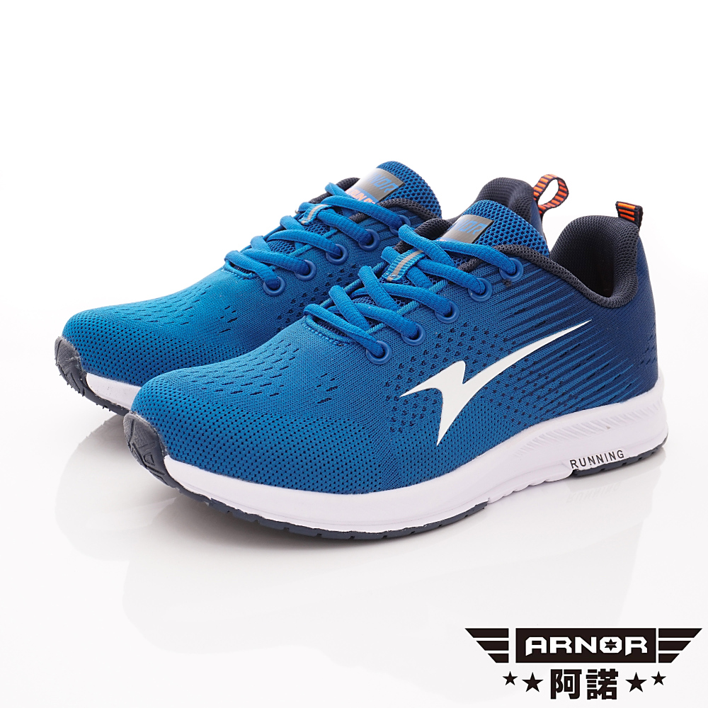 ARNOR時尚潮流鞋 Q彈緩震透氣跑鞋 EI5216勁藍(大童段)
