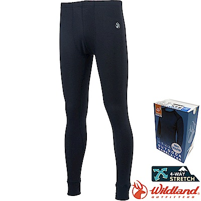 Wildland 荒野 H2676-54黑 男Highest彈性保暖褲 發熱褲