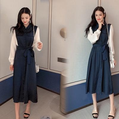 【韓國K.W.】韓時尚氣質美女修身洋裝-2色