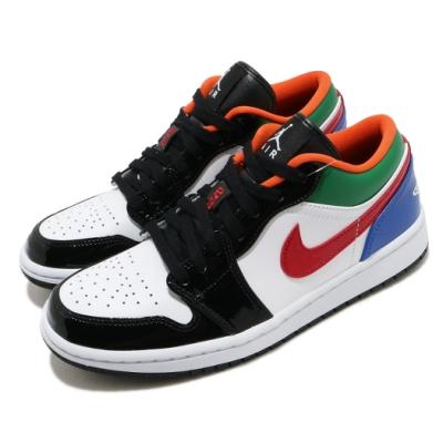 Nike 休閒鞋 Air Jordan 1 Low 男女鞋 經典款 喬丹一代 漆皮 穿搭 球鞋 彩 白 CZ4776101
