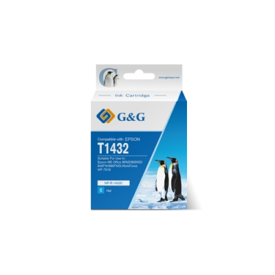 【G&G】 for Epson 藍色 T1432/T143250 (NO.143) 高容量相容墨水匣 /適用:ME Office 82WD / 900WD / 940FW / 960FWD