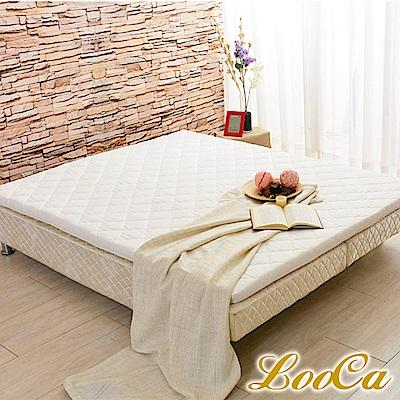 (雅虎限定)LooCa 法國防蹣防蚊技術冬夏兩用天然5cm乳膠床墊-雙人5尺