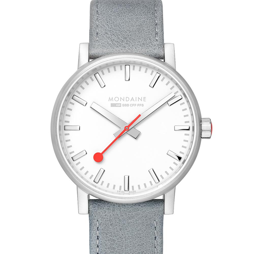 MONDAINE 瑞士國鐵evo2時光走廊腕錶-銀灰/40mm