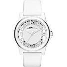 Marc Jacobs 浮雕鏤空系列手錶-白 MBM4015