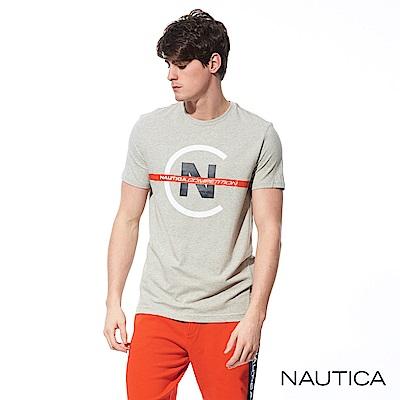 Nautica COMPETITION系列修身彈性短袖T恤-灰